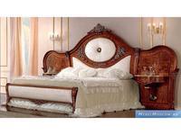 Barnini Oseo: Reggenza Luxury: кровать с прикроватными тумбами 184х203  с золотым украшением