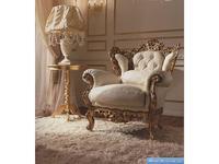 Barnini Oseo: Reggenza Luxury: кресло А  золотая фольга кожа