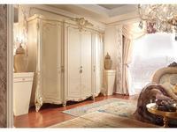 Barnini Oseo: Firenze: шкаф 4-дверный  белый с золотым украшением