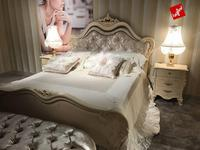 Barnini Oseo: Divina: кровать 160х200 с прикроватными тумбами 184х203 (слоновая кость, золото)
