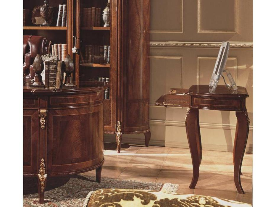 Barnini Oseo: Reggenza Luxuri: стол компютерный  (орех) с золотым украшением