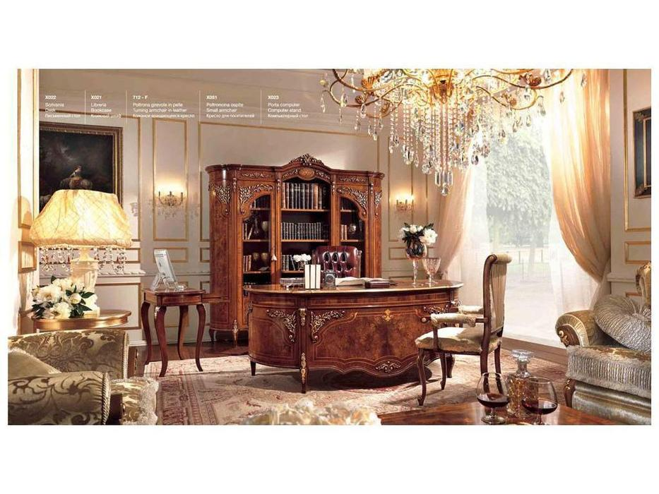 Barnini Oseo: Reggenza Luxury: кабинет с золотым украшением (орех)
