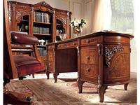 Barnini Oseo: Reggenza Luxuri: стол письменный 2-х тумбовый  (орех) с золотым украшением