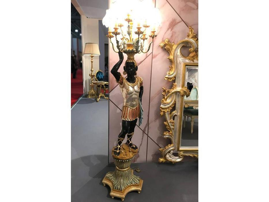 Andrea Fanfani: Complementi: торшер  Мавр-Римлянин с факелом   DX cat. А (золото, серебро)