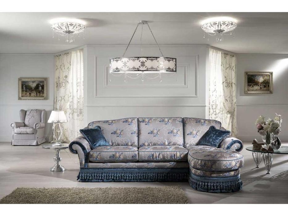 Keoma: Bellini: диван 3 местный с оттоманкой ткань кат. Super