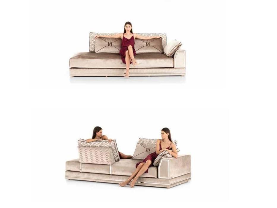 Keoma: Enea: диван 3 местный cо столом-пуфом ткань кат. Super