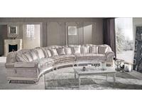 Keoma: Cristina: диван круглый кат. Lusso, серебро