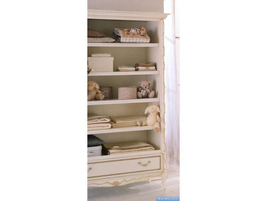 Frari: Fiocco Bebe: шкаф книжный  (слоновая кость с золотом)