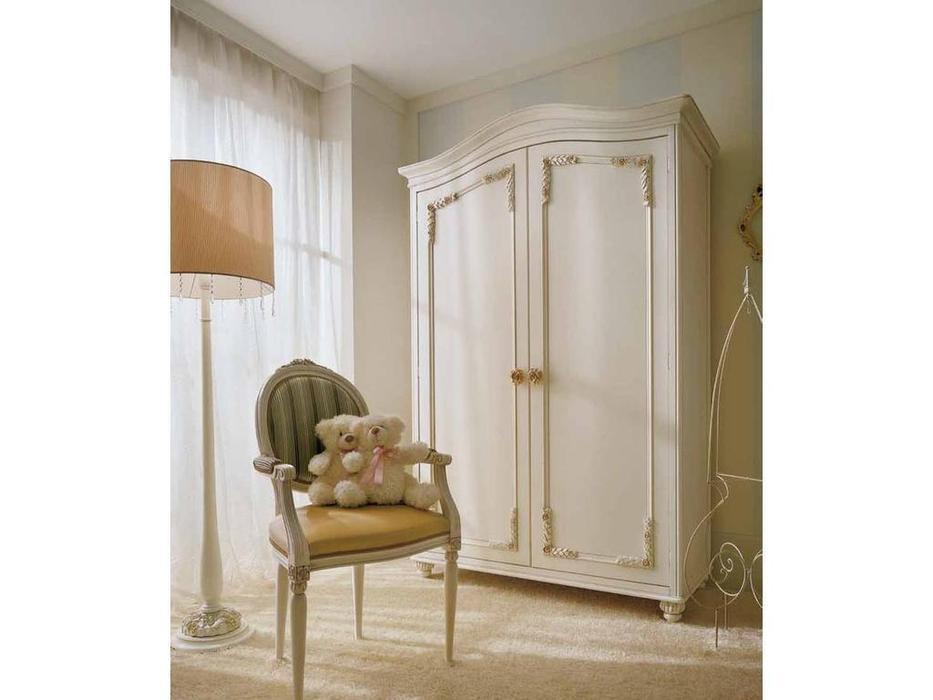 Frari: Rose: шкаф двухдверный  (слоновая кость, золото)
