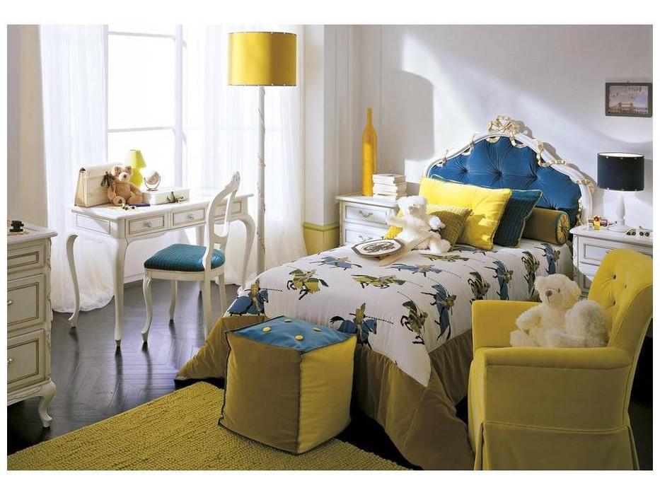 Frari: Fiocco: кровать 100х190  (слоновая кость, синий)