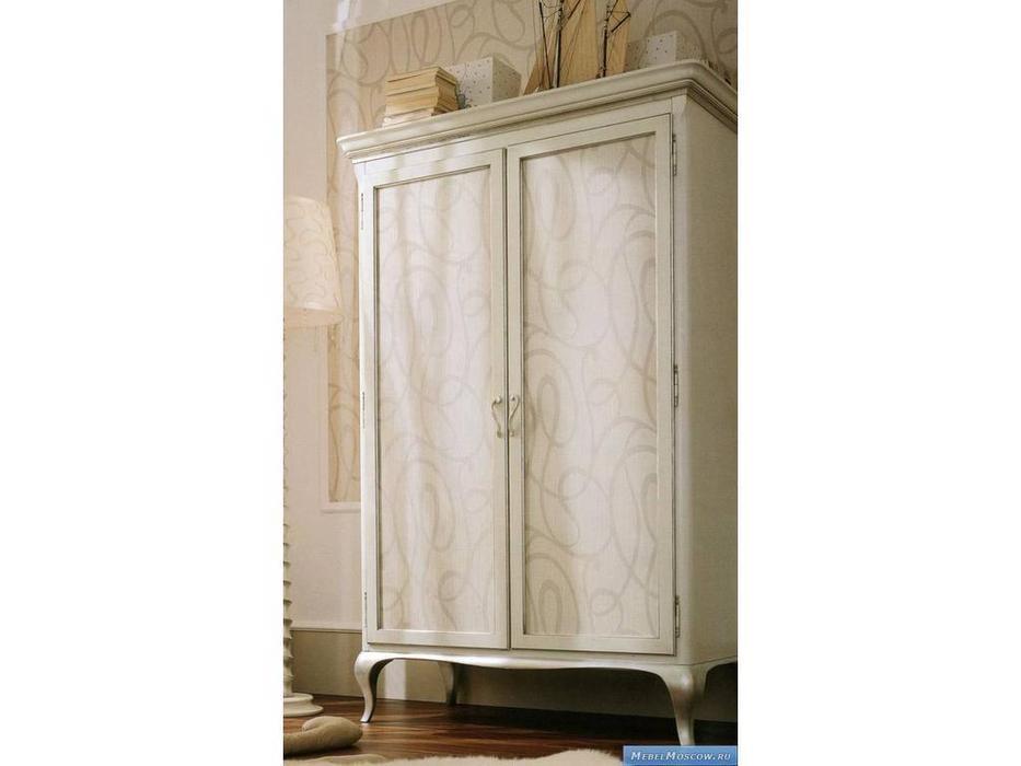 Frari: Greca: шкаф двухдверный  (слоновая кость, серебро)