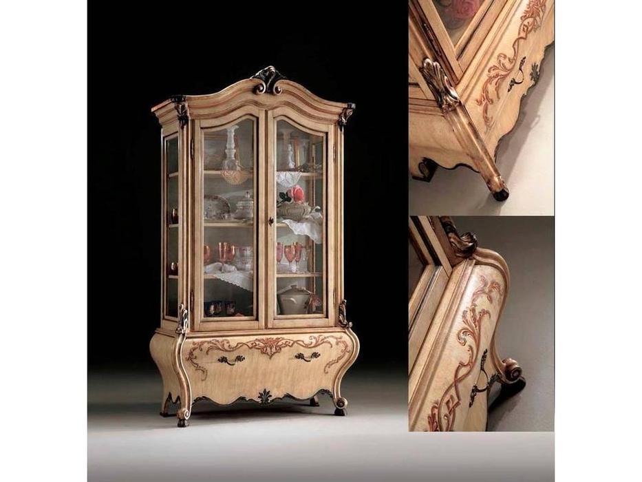 Tarocco Vaccari: Paradise: витрина 2-х дверная  (laccato, decape, oro)