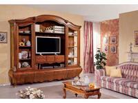 Tarocco Vaccari: Paradise: стенка мебельная с модулем под ТВ  (орех, золото)