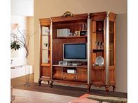 Tarocco Vaccari: Tulipano: стенка с секцией под ТВ  (орех, золото)