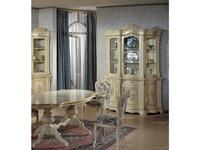Tarocco Vaccari: Luxury: витрина 3-х дверная  3-дверная (крем, роспись)