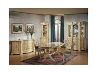 Tarocco Vaccari: Luxury: стол обеденный  (крем, роспись)