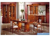 Disvalma Дисвальма: 109: стул с подлокотниками  (орех с золотом)
