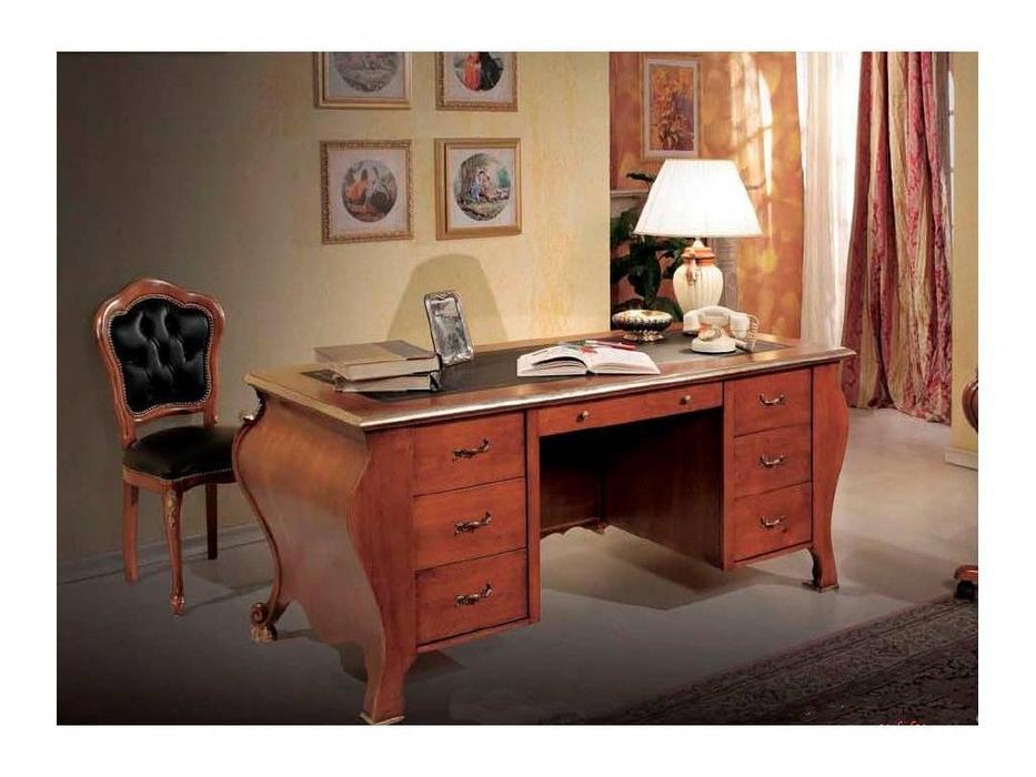 Tarocco Vaccari: Paradise: стол письменный 7 ящиков  (орех, золото)