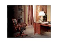 Tarocco Vaccari: Paradise: кресло вращающееся кожа  (орех, золото)