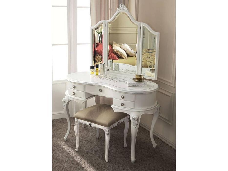 Tarocco Vaccari: Passioni: стол туалетный  (белый,серебро)