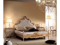 Tarocco Vaccari: Paradise: кровать 180х200 Capitone ткань  (laccato, oro)