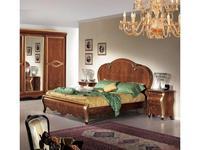 Tarocco Vaccari: Arena: кровать 180х200  (орех, золото)