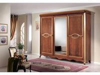 Tarocco Vaccari: Arena: шкаф-купе 3-х дверный с зеркалом  (орех, золото)