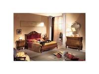 Tarocco Vaccari: Tulipano: кровать 180х200 ткань кристаллы Сваровски  (орех, золото)