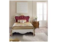 Tarocco Vaccari: Passioni: кровать 120х195  (белый, золото)