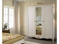 Tarocco Vaccari: Passioni: шкаф 3-х дверный  (белый,золото)