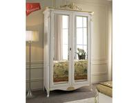 Tarocco Vaccari: Passioni: шкаф 2-х дверный с зеркалами  (белый,золото)