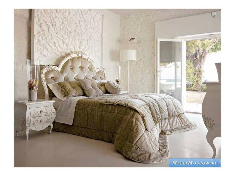Volpi: Notti: кровать Diletta 160х190  дерево class 4. ткань cat. B