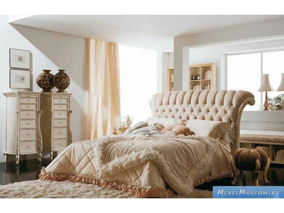 Volpi: Notti: кровать Sofia 160х190  дерево class 4. ткань cat. B