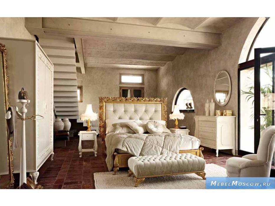 Volpi: Notti: кровать Angelica 180х200  дерево class 4. ткань cat. B