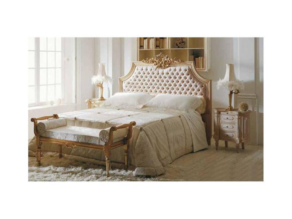 Volpi: Notti: кровать Romeo 180х200  дерево class 4. ткань cat. B