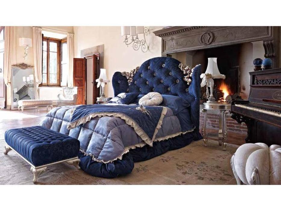 Volpi: Notti: кровать Mafalda 160х190  дерево class 3. ткань cat. C