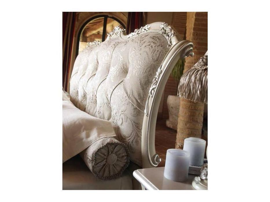 Volpi: Notti: кровать Leonardo 160х190  дерево class 3. ткань cat. C