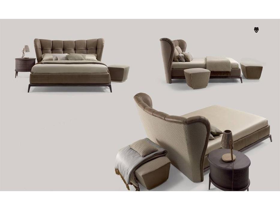 Volpi: Contemporary: кровать 180х200 Isabella  (орех, ткань кат.А)