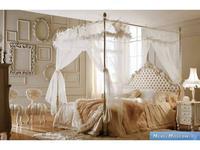 Volpi: Notti: кровать Venere 180х200  дерево class 4. ткань cat. B с балдахином