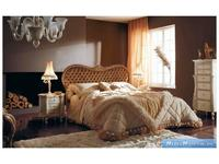 Volpi: Notti: кровать Boemia 160х190  дерево class 4. ткань cat. B