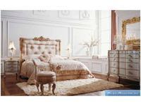 Volpi: Notti: кровать Teodoro 180х200  дерево class 4. ткань cat. B