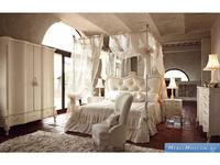 Volpi: Notti: кровать Doge 160х190  дерево class 4. ткань cat. B c балдахином