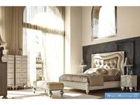 Volpi: Notti: кровать Botero 160х190  дерево class 4. ткань cat. B