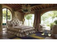 Volpi: Notti: кровать Lucrezia 160х190  дерево class 4. ткань cat. B