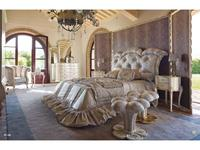 Volpi: Notti: кровать Gregorio 160х190  дерево class 4. ткань cat. C