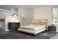 Volpi: Contemporary: кровать 180х200 Sabrina  (орех, ткань кат.А)