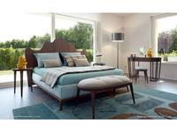 Volpi: Contemporary: кровать 180х200 Santiago  (орех, ткань кат.А)