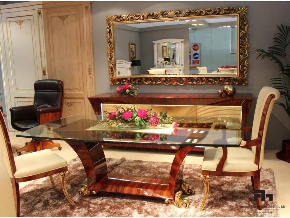 Antonio Loureiro Mendes: Aqua: стол обеденный (орех, золото)