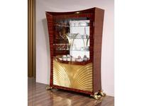 Antonio Loureiro Mendes: Aqua: витрина 2-х дверная (орех, золото)