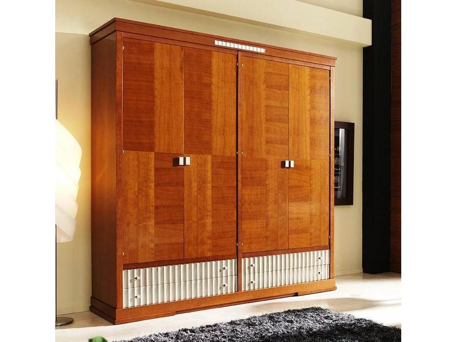 Santo Tomas: Сero10: шкаф четырехдверный  (вишня) ] (вишня)